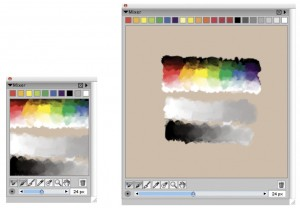 The Mixing Feature on Corel Painter 11 (a virtual palette knife!)