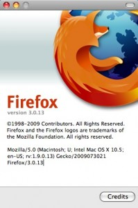 Firefox About Window